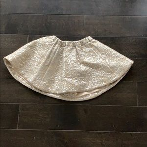 beige and silver Crew Cuts skirt